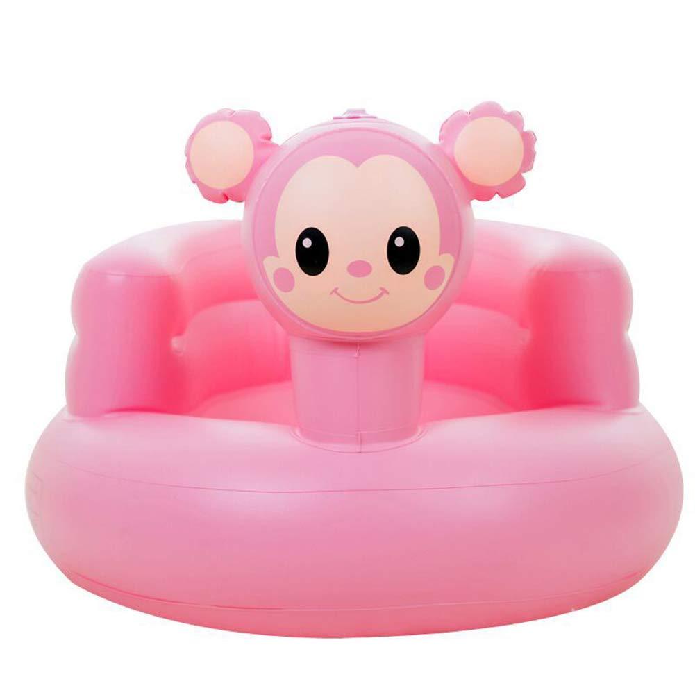 Silla de asiento de apoyo para beb/és silla de beb/é inflable port/átil Aprender asiento para ni/ños peque/ños asiento de ba/ño inflable para beb/és