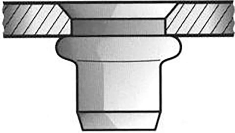 Gesipa 0/2934/000/6,0/9,0/17,0/01 Blindnietmuttern Stahl Senkkopf hell-verzinkt, 6 x 9 x 17, 250 Stü ck 0/2934/000/   6 0/  9 0/ 17