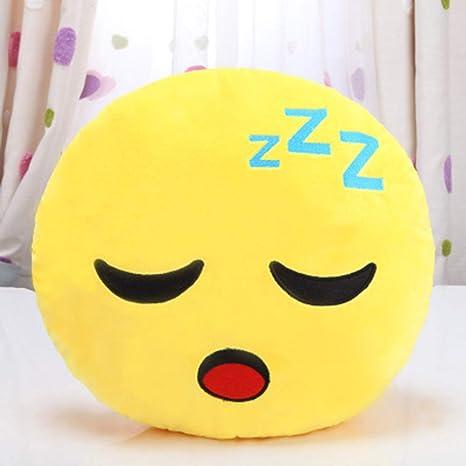 TianranRT 32 cm Suave QQ Emoji Emoticon Sonriente Relleno muñeca de Juguete Peluche Almohada Cover