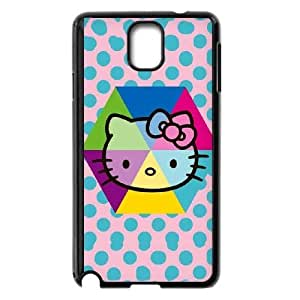 Samsung Galaxy Note 3 Cell Phone Case Black Hello Kitty Spots JSK806253