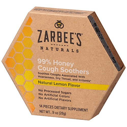 Zarbee's Naturals Honey Cough Soothers, Lemon, 0.9 oz (Pack of 2)