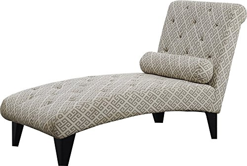 Chaise Lounge Sturdy Yet Stylish Tapered Legs Fashionable Tufted Accents Cylindrical Accent Pillow Blends Well with Many Decors by AVA Furniture
