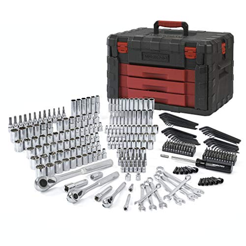 WORKPRO 320-Piece Mechanics Tool Kit, Professional Socket Set with Heavy Duty Case Box ()