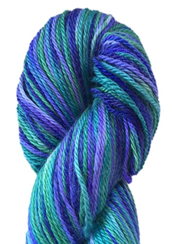 Hand Dyed Alpaca Silk Yarn, Hand Painted African Violet, Dk Weight, 100 Grams, 245 Yards, 70/30 Baby ()