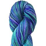 Hand Dyed Alpaca Silk Yarn, Hand Painted African Violet, Dk Weight, 100 Grams, 245 Yards, 70/30 Baby Alpaca / Silk