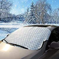 Flylet Car Windshield Snow Cover & Sun Shade Protector - Fits Cars CRVs