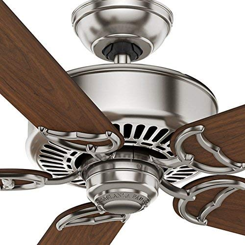 Casablanca 59512 Panama DC 54-Inch 5-Blade Ceiling Fan, Brushed Cocoa with Distressed Walnut Burnt Walnut Blades