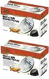 (2 Pack) Zilla Reptile Terrarium Heat Lamps, Mini Halogen & UVB Basking Fixture