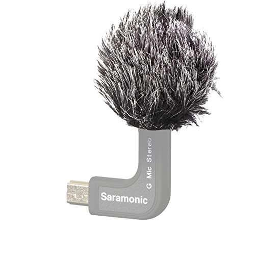 Saramonic Furry Outdoor Microphone Windscreen for the Saramonic G-Mic Stereo Ball Microphone for GoPro by Saramonic
