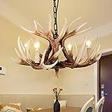 EFFORTINC Vintage Style Resin Deer Horn Antler
