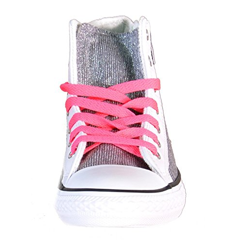 Converse - Zapatillas de Lona para niña plateado