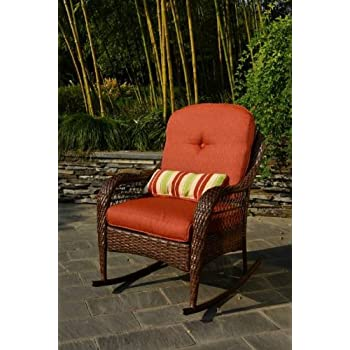 This item Better Homes and Gardens Azalea Ridge Porch Deck and Patio  Rocking Chair All Weather Outdoor Wicker Rocker Furniture  37 h  Seat Depth  19 75. Amazon com   Better Homes and Gardens Azalea Ridge Porch Deck and