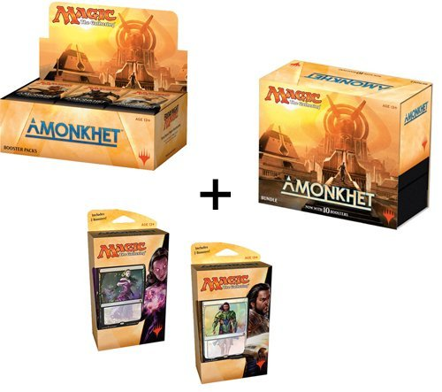 Magic Amonkhet Booster Box + Bundle + Both Planeswalker Decks! MTG Variety Pack
