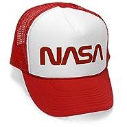 Megashirtz - Old NASA Logo - Retro Vintage Style Trucker Hat Cap