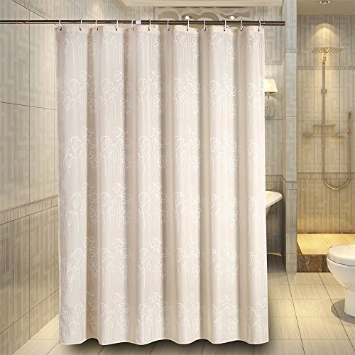 Water Repellent Waterproof Fabric Shower Curtain