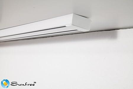 White Aluminium Panel : Aluminium rail track curtain rails white aluminium rail