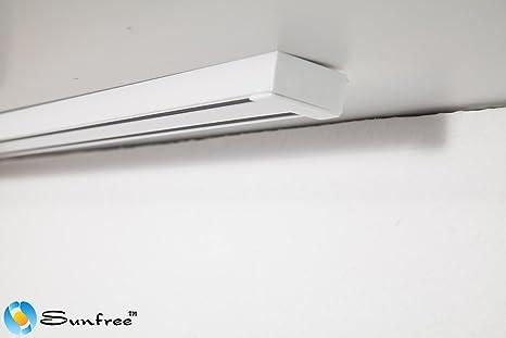 Tende Pannello Binario.Binario In Alluminio A 3 Vie Bianco Binario In Alluminio