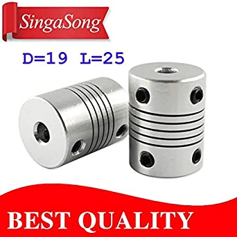 Ochoos Hot Sale 4pcs D19L25 CNC Motor Jaw Shaft Coupler Flexible