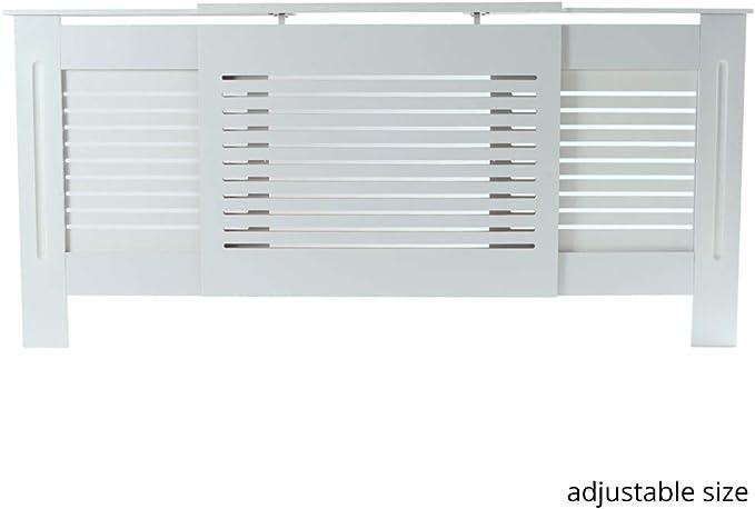 Exquisite E1 MDF Board Home Adjustable Radiator Cover White