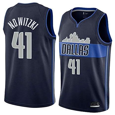 PROSPECT Mavericks Nowitzki 41# Basketball Jersey Herren Trikot gen/ähte M/änner Shirt