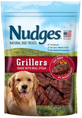 - Nudges Steak Grillers Dog Treats, 3 oz