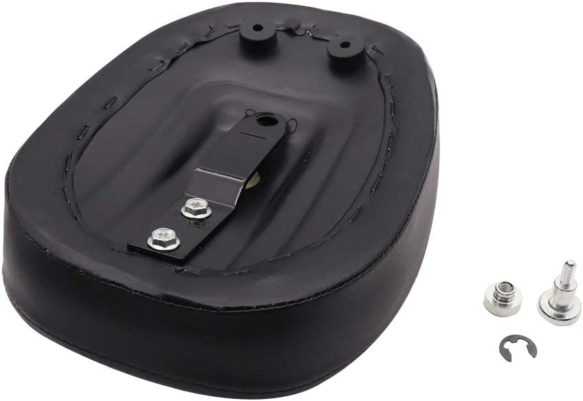 GOOFIT Front Rider Solo Seat Rear Passenger Pilion Pad Cushion Compatible with Harley Sportster XL1200 883 48 72