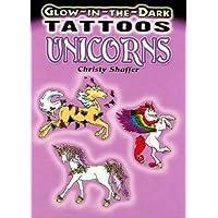 Glow-in-the-Dark Tattoos Unicorns