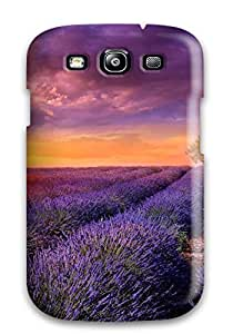 Tasha P Todd Scratch-free Phone Case For Galaxy S3- Retail Packaging - Sunrise Over The Flower Field