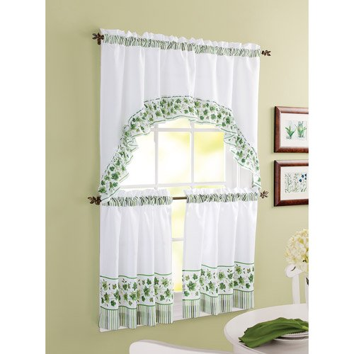 Amazon.com: Better Homes and Gardens Tier Window Set - Ivy: Home ...