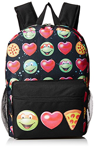 Teenage Mutant Ninja Turtles Girls Emoji 17 Inch Backpack, Various, Large Size