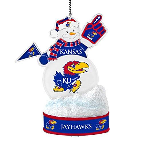 NCAA Kansas Jayhawks LED Snowman Ornament ()