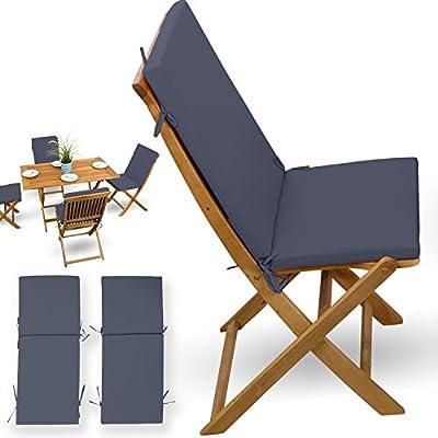 2 piezas, cojines # Antracita # para madera muebles de jardín ...