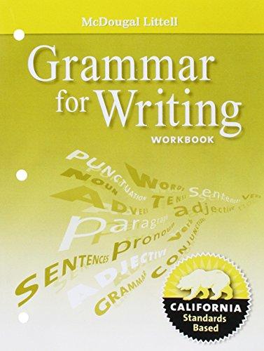 McDougal Littell Literature Grammar For Writing Workbook
