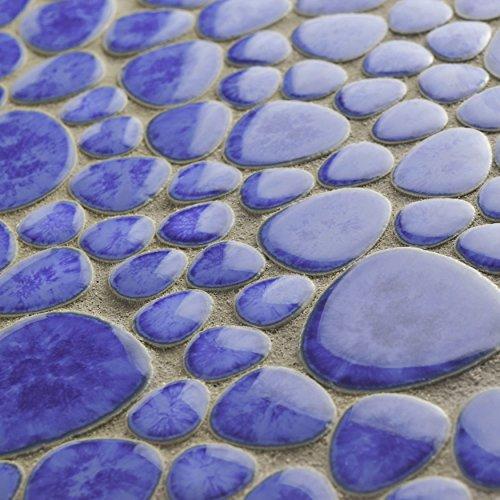 SomerTile FKOPS144 Boulder Cloud Porcelain Floor and Wall Tile, 11'' x 11'', Blue by SOMERTILE (Image #6)