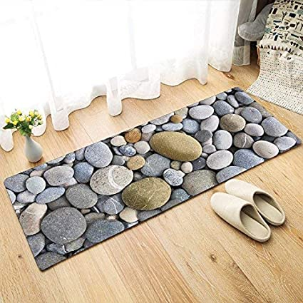 Status 3D Digital Printed Premium Quality Runner for Kitchen/Lobby/ Drawing Room/Bedside Runner with Anti Skid Backing (Stone Print) (Pack of 1)