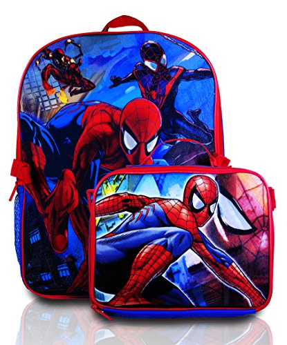 Marvel Boy's Backpack with Lunchbox Set and Value