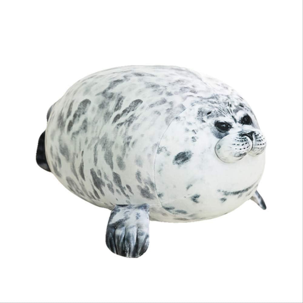 n\a Cute Sea Lion Plush Toys Soft Marine Animal Seal Muñeca De Peluche para Niños Regalo Almohada para Dormir 3D Novedad Throw Pillow 40cm Gris