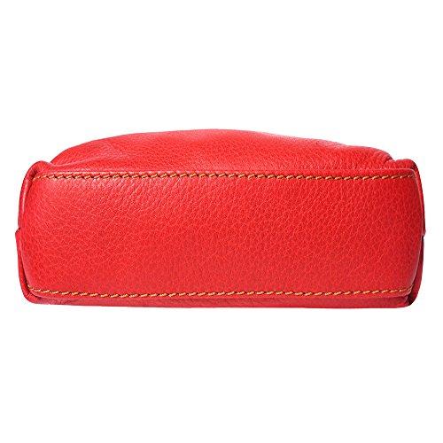 À Mia Sac Florence Unisex Cuir marron Sacs 8610 Leather Market Bandoulière En Gm Rouge qxSnfwS