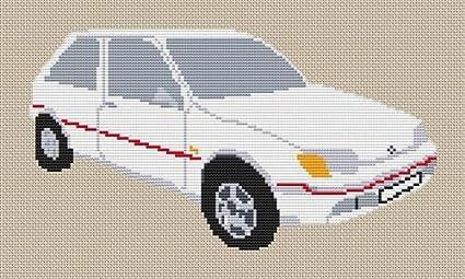 Stitchtastic Ford Fiesta XR2 patrón de punto de cruz