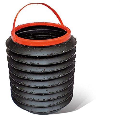 Mexidi Telescopic Bucket, Multifunctional Waterproof Foldable Retractable Car Bucket Fishing Box Car Trash Barrel Can Bin Storage, Collapsible Pail Vehicle Cylinder Barrel 4L (Black)