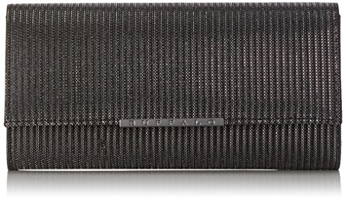 Buffalo Damen Bag Bwg-05 Glitter Clutch, 4x13x25 cm Schwarz (Black 01)