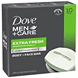 #2: Dove Men+Care Body and Face Bar, Extra Fresh, 4 Ounce, 10 Count