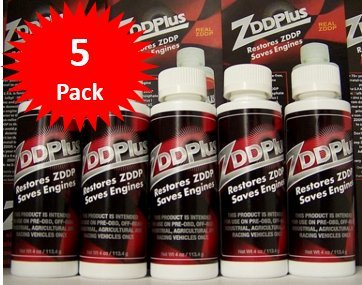 ZDDPPlus ZDDP Engine Oil Additive Zinc & Phosphorus 5 Bottle Pkg by ZDDPlus