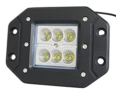 """24w Led FLOOD Light 1,620 Lumens 3""""x3"""" Pods for Off Road, Work, Driving, Fog, Safety, 4x4, ATV, Car, Truck, 4wd, SUV, Tractor, Motorcycle, Boat, Quad, UTV, and Auxiliary Lighting. Light Bar For Your Toys like YXZ 1000R, Side by Side, SXS, Honda, Yamaha, K"""