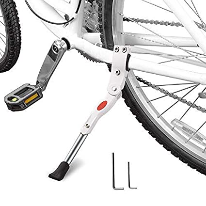 6bdb295fb83 Image Unavailable. Image not available for. Color: StyleZ Adjustable Bicycle  Kickstand MTB Road Bicycle Parking Rack Alloy Bike Support Side Kick Stand  Foot