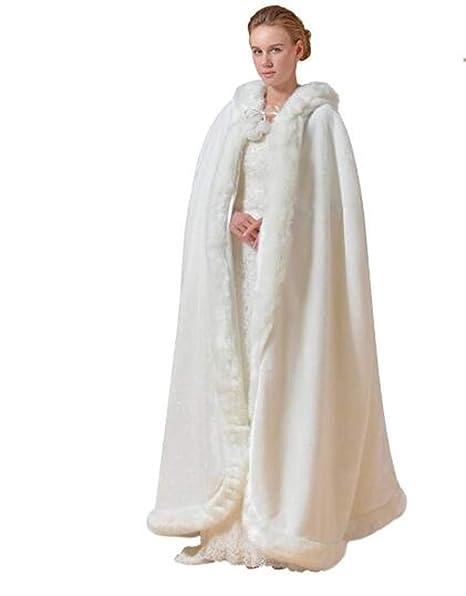 Chaqueta de Invierno cálida Chaqueta de Novia Bolero Manto Chaqueta de Boda Abrigo cálido (Blanco): Amazon.es: Ropa y accesorios