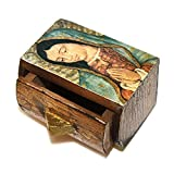 WOOD BOX ST. MARY OUR LADY OF GUADALUPE
