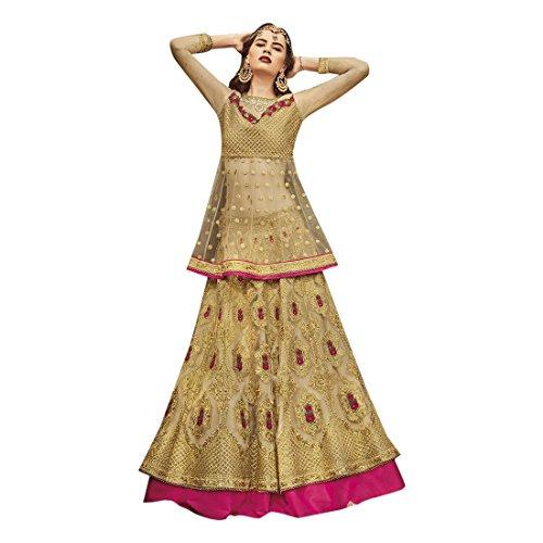 salwar progettista del indiane personalizzato nozze da di Anarkali vestito di la dal partito vestito vestono tradizionali dal si embrodiery rete di donne del misurare Le 807 qOYE0fxO