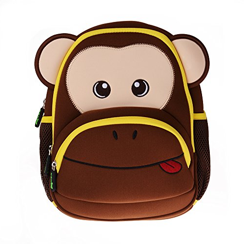 Kinderrucksack, Georgie Porgy [Outdoor] Kinder Rucksack Mädchen Jungen Kindergarten [Schulrucksäck] [Wanderrucksäck] [Reiserucksack] Backpack Tasche, Affe (Rosa) Braun