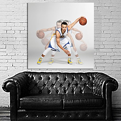 #27 Poster Mural Stephen Steph Curry Warriors Basketball 40x40 inch (100x100 cm) 8mil Paper